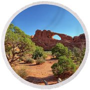 Skyline Arch Round Beach Towel