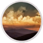Skyline Drive Scenic View Round Beach Towel