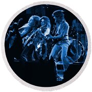 Blues In Spokane Round Beach Towel