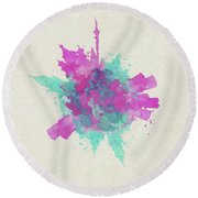 Skyround Art Of Moscow, Russia Round Beach Towel