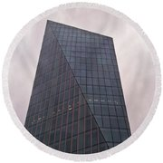 Round Beach Towel featuring the photograph Skyscraper by Anne Kotan