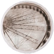 Skywheel In Niagara Falls Round Beach Towel