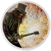 Slash - Guitarist Round Beach Towel