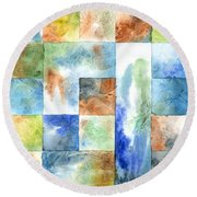 Slated Watercolor Round Beach Towel