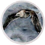 Slaty-backed Gull Round Beach Towel
