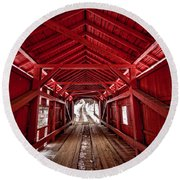 Slaughterhouse Red Round Beach Towel