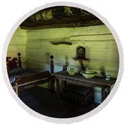 Round Beach Towel featuring the photograph Slave Quarters - The Hermitage by James L Bartlett