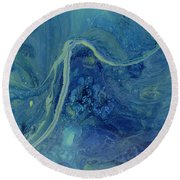 Sleeping Depths Round Beach Towel