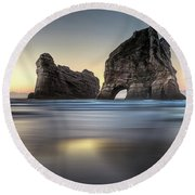 Sleeping Giants Round Beach Towel
