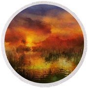 Sleeping Nature II Round Beach Towel