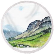 Sleeping Valley Round Beach Towel