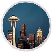 Sleepless In Seattle Round Beach Towel