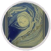 Sleepy Man In The Moon Round Beach Towel