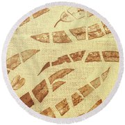 Slices Of Fall Round Beach Towel