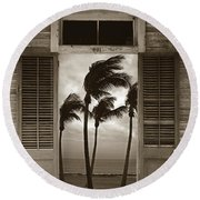 Round Beach Towel featuring the photograph Slip Away To Paradise by John Stephens