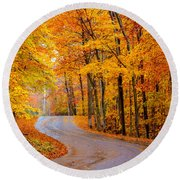 Slippery Color Round Beach Towel