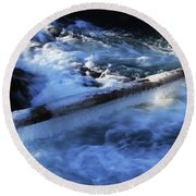 Slippery Log Round Beach Towel
