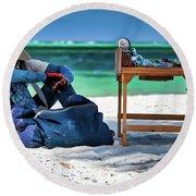 Slow Sales Day Round Beach Towel
