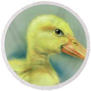 Sly Little Duckling Round Beach Towel