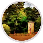 Small Autumn Silo Round Beach Towel