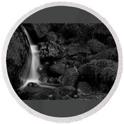 Round Beach Towel featuring the photograph Small Fall by Bob Cournoyer