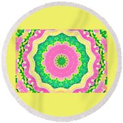 Small Joy Round Beach Towel by Shirley Moravec