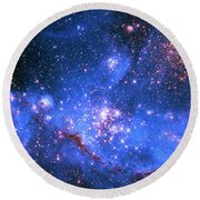 Small Magellanic Cloud Round Beach Towel