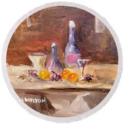Small Still Life Round Beach Towel