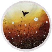 Small Treasure Round Beach Towel
