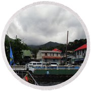 Round Beach Towel featuring the photograph Small Village by Gary Wonning