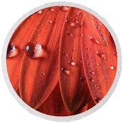 Small Water Drops Round Beach Towel