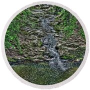 Small Waterfall Round Beach Towel