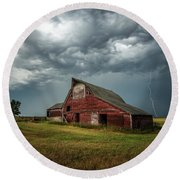 Round Beach Towel featuring the photograph Smallville by Aaron J Groen