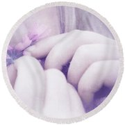 Round Beach Towel featuring the digital art Smell Life - V07t3 by Variance Collections