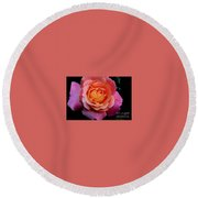 Smell The Rose Round Beach Towel