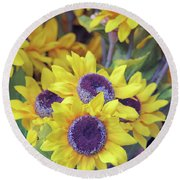 Smile  Round Beach Towel by John S