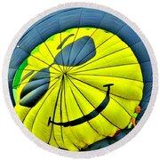 Smiley Face Balloon Round Beach Towel
