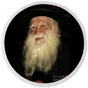 Smiling Picture Of Rabbi Yehuda Zev Segal Round Beach Towel