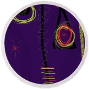 Smiro For Roland Hassanein Round Beach Towel