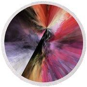 Round Beach Towel featuring the digital art Smite The Evil  by Margie Chapman