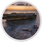 Smith Barcadere Grand Cayman Sunset Round Beach Towel