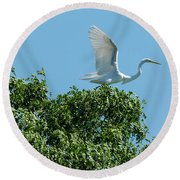 Round Beach Towel featuring the photograph Smith Creek by Steven Richman