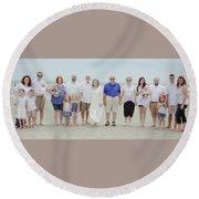 Smith Family At The Beach Round Beach Towel