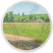 Smith Farm In June 2016 Round Beach Towel