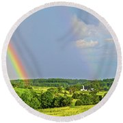Smith Mountain Lake Rainbow Round Beach Towel