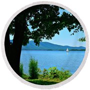 Smith Mountain Lake Sailor Round Beach Towel by The American Shutterbug Society