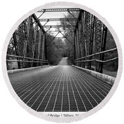 Smith Road Bridge  Round Beach Towel