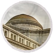 Smithsonial National History Museum Round Beach Towel