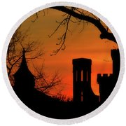 Smithsonian Castle Round Beach Towel by Luv Photography
