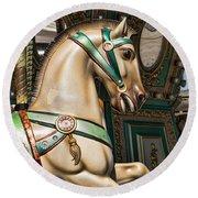 Smithville Roman Carousel Pony Round Beach Towel